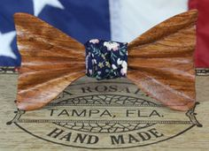 The John Magnum Wooden Bow Tie - Bubinga Wood #bowtie #maleaccessories