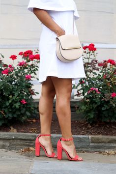 Coral Steve Madden sandal heels   Themodalista.com