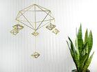 Mobile Himmeli Geometrisch Messing // Orb1 Gr. M