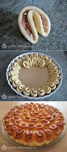cooking bakery products- Girlfriends who posted a superb recipe for minced meat and dough this week ? Dog Recipes, Cake Recipes, Dessert Recipes, Cooking Recipes, St Food, Pastry Design, Homemade Rolls, Food Garnishes, Food Humor