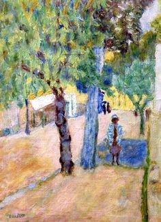 Figure beneath a Tree / Pierre Bonnard - circa 1925