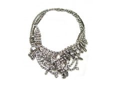 Small White Tangled Crystal Necklace by Tom Binns $875 #necklace #jewelry