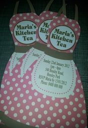 Kitchen Tea Invitations - Unique Personalised Keepsakes