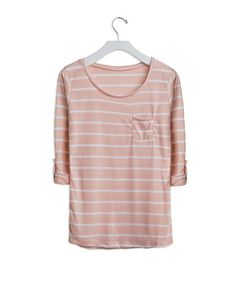 dirty pink striped tee