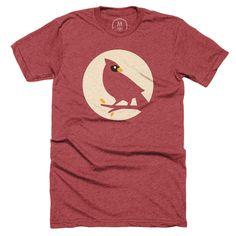 """""""Cardinal"""" graphic designer t-shirt, pullover crewneck, and pullover hoodie by Nick Slater. 