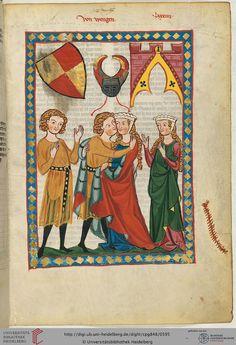 Codex Manesse, 1304-1340, 300r Von Wengen