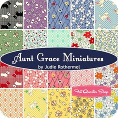 Aunt Grace Miniatures by Judie Rothermel for Marcus Brothers Fabrics
