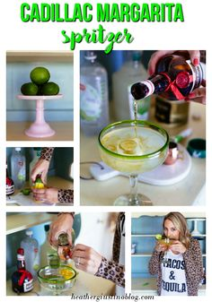 Light, refreshing and simple! Cocktail Club: The Cadillac Margarita Spritzer