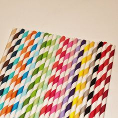 75 Paper Straws, PICK your Color(s) and Designs, Paper Drinking Straws,  Mix or Match, Party Assortment, Birthday, Wedding,