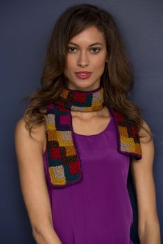Mitered Squares Scarf