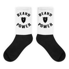 Beard Power Black foot socks