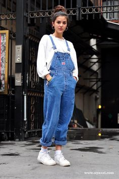 How to wear a Denim dungaree - Wear a long denim dungaree with high heels and a simple top or blouse if you feel to dress it up a little. Description from pinterest.com. I searched for this on bing.com/images