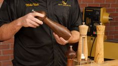 Shopping for Pepper and Salt Mills, like Turners Select Deluxe Pepper Mill Kit is easy at Craft Supplies USA. Woodworking Projects That Sell, Lathe Projects, Wood Turning Projects, Woodworking Tips, Projects For Kids, Wood Projects, Woodturning Videos, Craft Supplies Usa, Pepper Mills