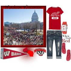 Outfit - University of Wisconsin Badgers...maybe not for here but if we roadtrip!