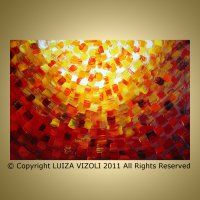 City of Lights - Original Modern Abstract Religious Painting - by Luiza Vizoli. It is the cover art for Breaking Bread catholic missal book - 2011.