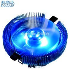 4pin PWM 90mm fan Blue LED, cooling for Intel LGA775 1150 1151 1155 1156, for AMD AM2 AM2+ AM3 FM1, CPU radiator, PcCooler E92F