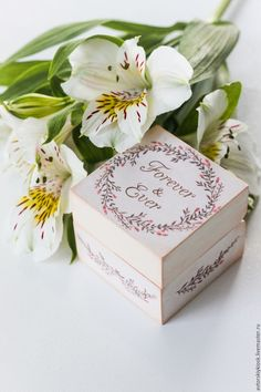 Adorable box for wedding rings