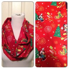 Mickey Mouse Holiday scarf LIMITED by DimpleCheekBoutique on Etsy