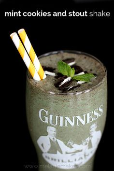 Forget the crowded bar scene this St. Patrick's Day!  Create your own adult milkshake featuring your favorite stout beer, Irish cream, mint chocolate chip ice cream and chocolate sandwich cookies.  There will be no pinching when this Mint Cookies and Stout Shake is served.