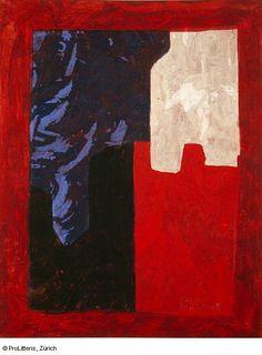 Serge Poliakoff Bleu, rouge, blanc, 1966/1967 Tempera auf Leinwand 90.6 x 71.8 cm Kunstmuseum Basel