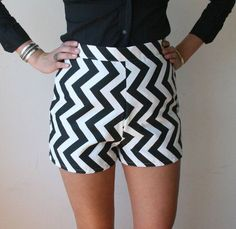 Chevron shorts. Schwanky.