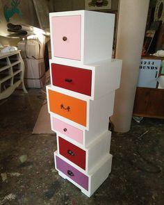 mondrinavian drawers mindi wood 35x30x125H #alldecos