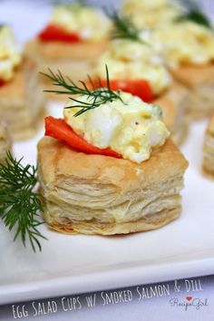 Egg Salad Cups with Smoked Salmon and Dill