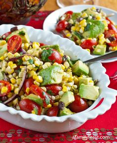 Avocado, Corn and Tomato Salad Recipe - RecipeChart.com