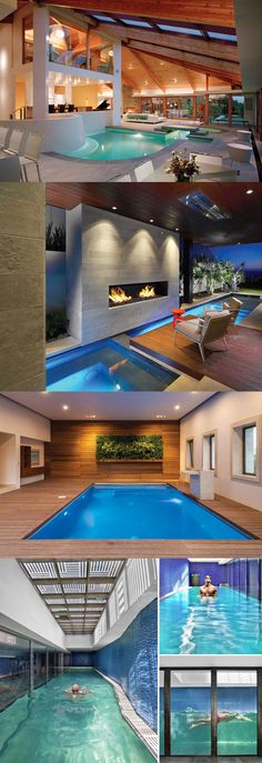 Unique inspiration for pool design ideas. Some people have a desire to be different from others. Included in building a swimming pool for his own home. Here are some examples of beautiful, modern, and contemporary pool design ideas. Luxury Swimming Pools, Luxury Pools, Dream Pools, Indoor Swimming Pools, Swimming Pool Designs, Cool Pools, Pool Houses, Jacuzzi, Architecture