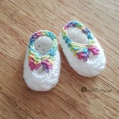 Quick newborn booties free crochet pattern - copyright by earthbabycrochet