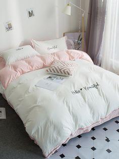 DOUBLE BED FLANNELETTE SHEET SET RETRO BLOCKS PINK YELLOW LILAC LINE SOFT COTTON