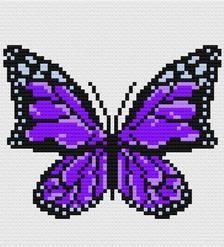 Perler Patterns, Loom Patterns, Beading Patterns, Cross Stitch Patterns, Crochet Patterns, Melt Beads Patterns, Butterfly Cross Stitch, Butterfly Pattern, Black And White Words