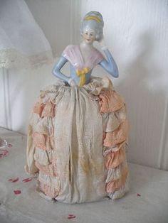 VINTAGE c1930s PIN CUSHION DOLL ~half doll ~boudoir | eBay