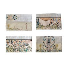 LACMA Store - Dosa 'Watts Towers' Utility Cases:  printed cotton utility zippered case;  the pattern is based on details of artist Gloria Stewart's paintings of the Watts Towers in LACMA's permanent collection.