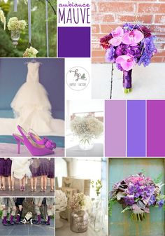 # purple #violet  #mauve #wedding #Happily Factory and steel blue