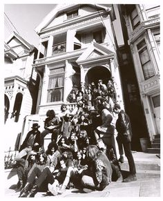 Grateful Dead, Jefferson Airplane, Quicksilver Messenger Service, Janis Joplin & Big Brother and the Holding Company, and the Charlatans at 710 Ashbury Street in 1967 Grace Slick, Forever Grateful, Grateful Dead House, Woodstock, Owsley Stanley, Holding Company, Hippies, Music Icon, My Music