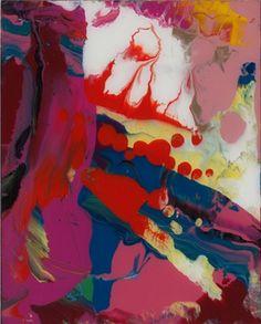 Gerhard Richter, Sindbad (Sinbad), 2008. Lacquer on back of glass. 30cm H x 24cm W. [905-5]