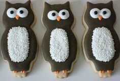 Tall Owl Cookies~          By flour and sugar thoughts,    Brown