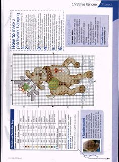 Reindeer Games, hart & colour list page, page 4/4E