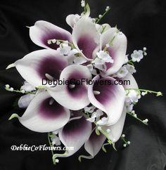 Purple And White Lily Wedding Bouquet Tkadpp