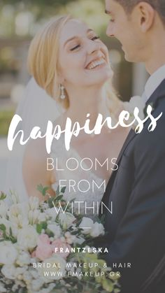 Happiness blooms from within Scrunched Hair, Bridal Makeup, Most Beautiful, Groom, Hairstyle, Bride, Greek Islands, Happy, Greece
