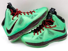 Nike LeBron James X Cutting Jade Shoes