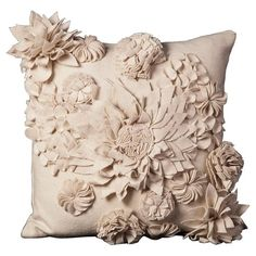 Wild Flower Pillow in Ivory from the Mina Victory event at Joss and Main!