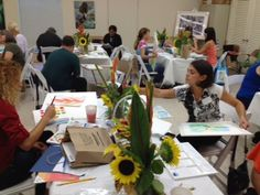All watercolor artists at work!
