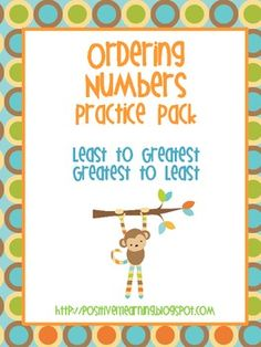 Here's a math packet designed to provide practice with place value by ordering numbers! $3.00