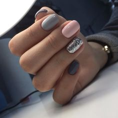 """If you're unfamiliar with nail trends and you hear the words """"coffin nails,"""" what comes to mind? It's not nails with coffins drawn on them. It's long nails with a square tip, and the look has. Gray Nails, Pink Nails, Pastel Nails, Brown Nails, Gorgeous Nails, Love Nails, Style Nails, Beautiful Gorgeous, Nagel Stamping"""