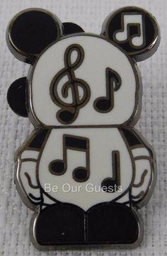 Disney Parks Vinylmation Jr. Pin Music Notes 2011 New Mystery Series #1 B
