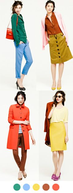 J.Crew Fall 2011. Cheers to J.Crew for finally going back to what works. Bright colors. Classic lines. Perfect.