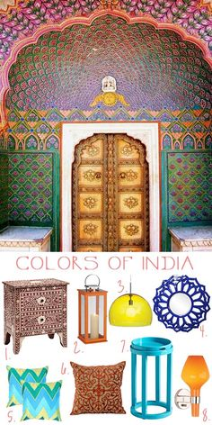 Home decor and lighting inspired by the colors of India