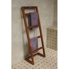 Aqua Teak Angled Free Standing Towel Rack